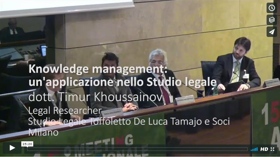 Knowledge Management e Archiviazione Elettronica nello Studio legale